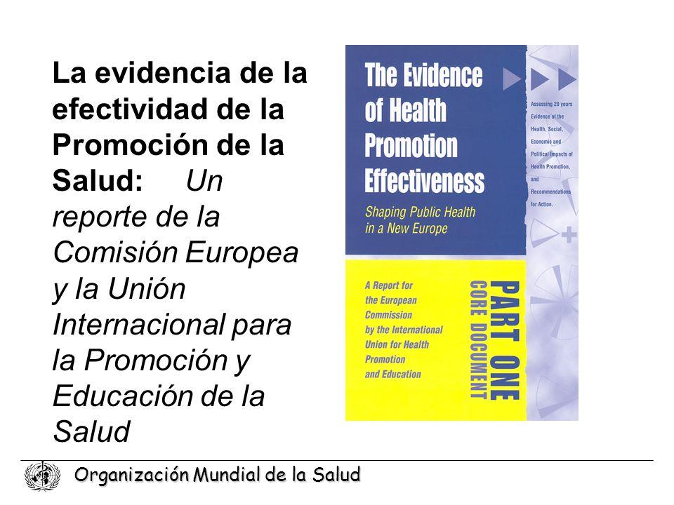 La evidencia de la efectividad de la Promoción de la Salud: Un reporte de la Comisión Europea y la Unión Internacional para la Promoción y Educación de la Salud