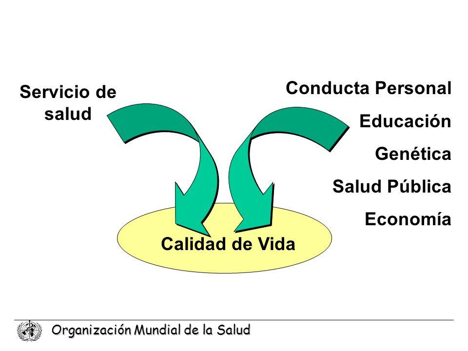 Conducta Personal Educación Genética Salud Pública Economía Servicio de salud Calidad de Vida