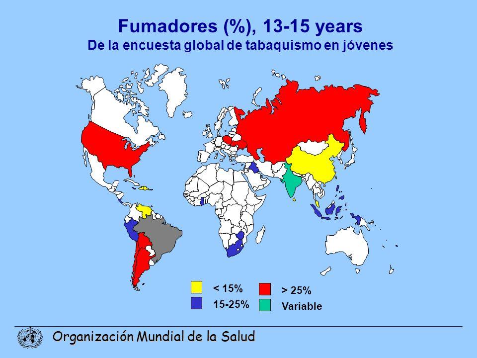 De la encuesta global de tabaquismo en jóvenes