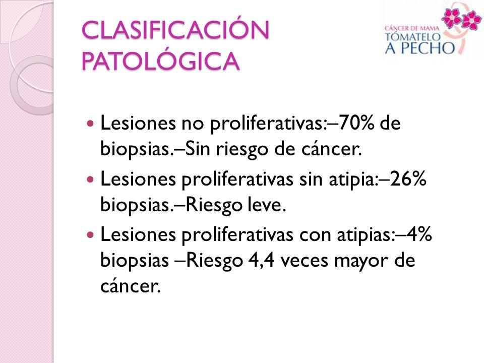 CLASIFICACIÓN PATOLÓGICA