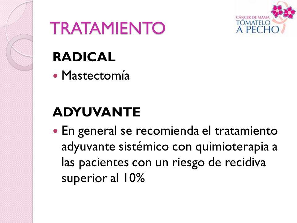 TRATAMIENTO RADICAL Mastectomía ADYUVANTE