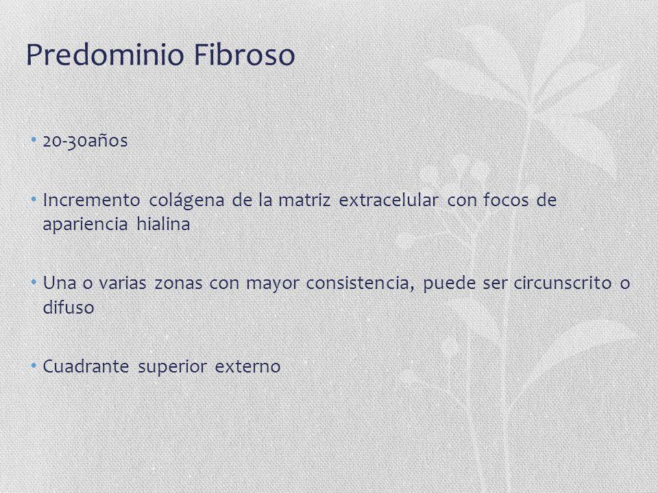 Predominio Fibroso 20-30años