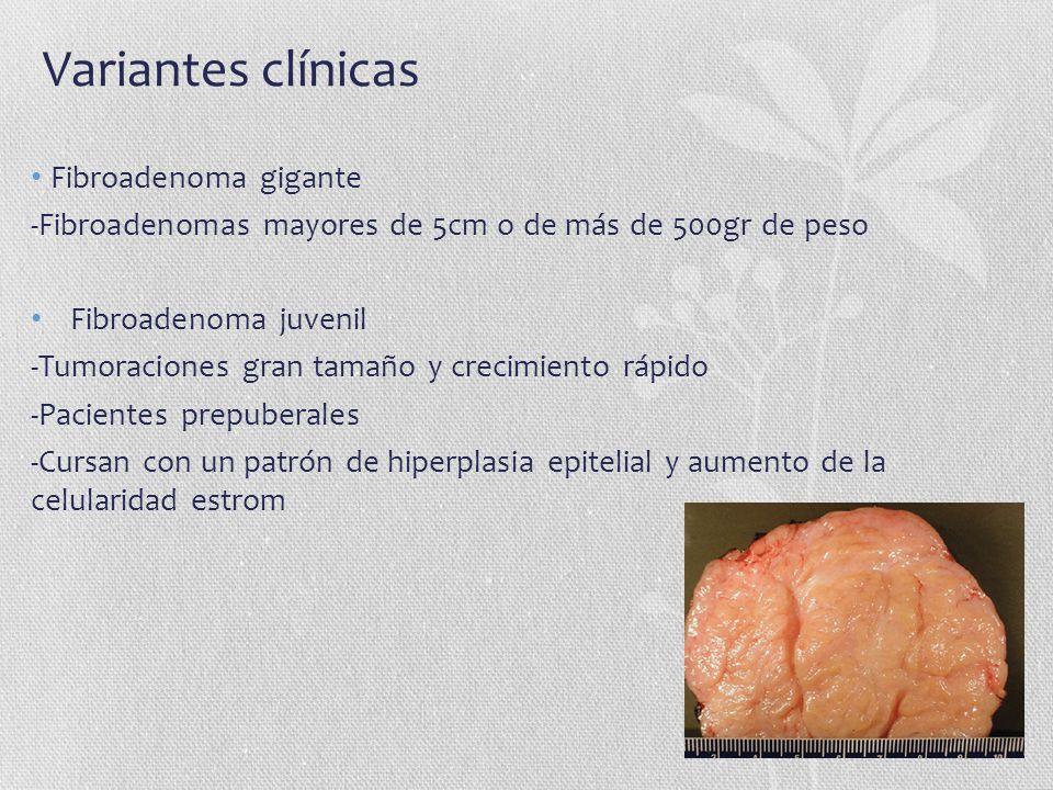 Variantes clínicas Fibroadenoma gigante