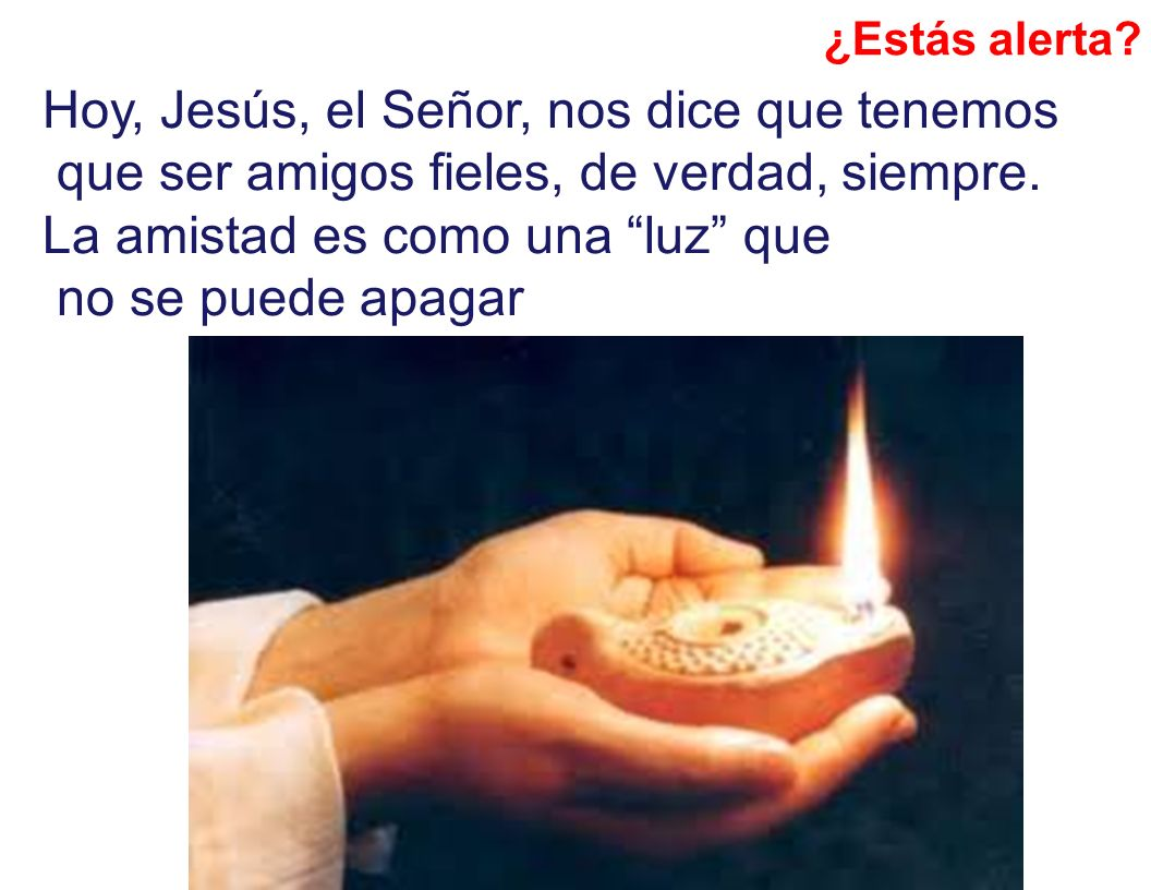 Hoy, Jesús, el Señor, nos dice que tenemos