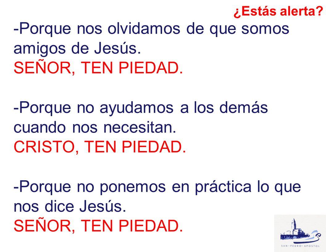 -Porque nos olvidamos de que somos amigos de Jesús. SEÑOR, TEN PIEDAD.