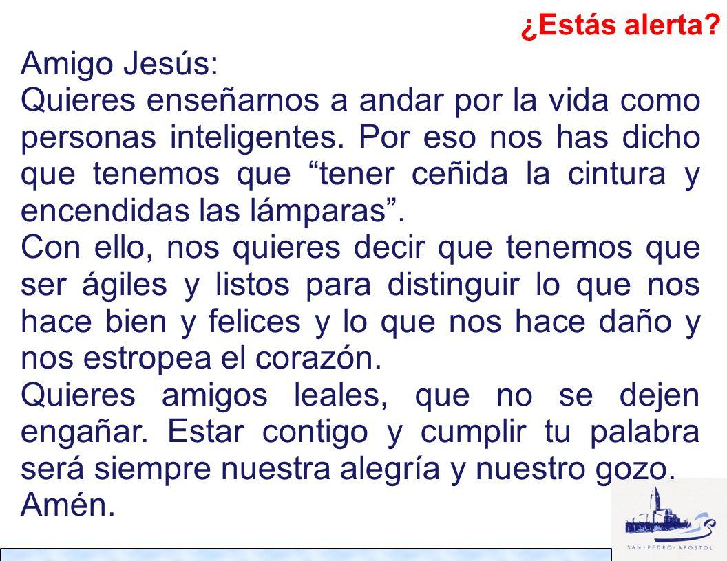 ¿Estás alerta Amigo Jesús: