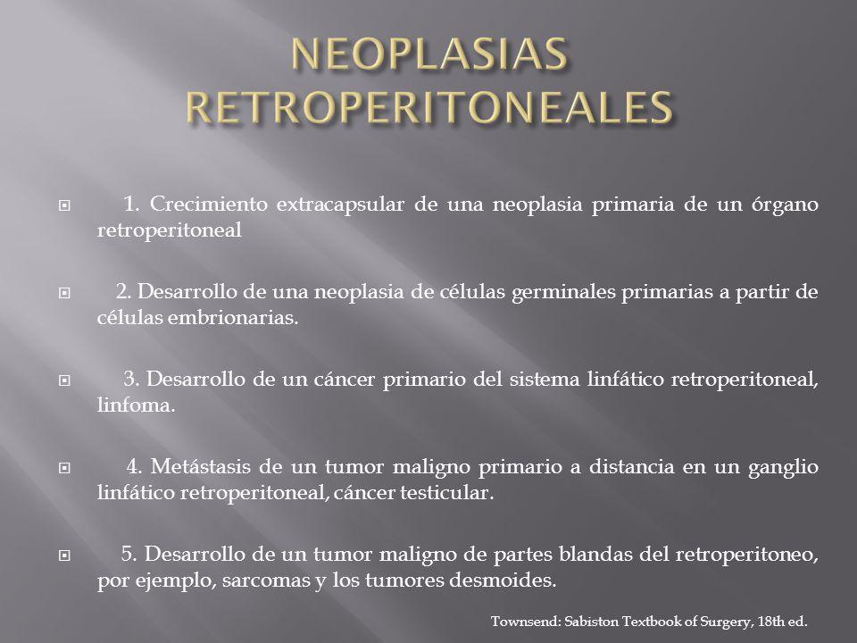 NEOPLASIAS RETROPERITONEALES