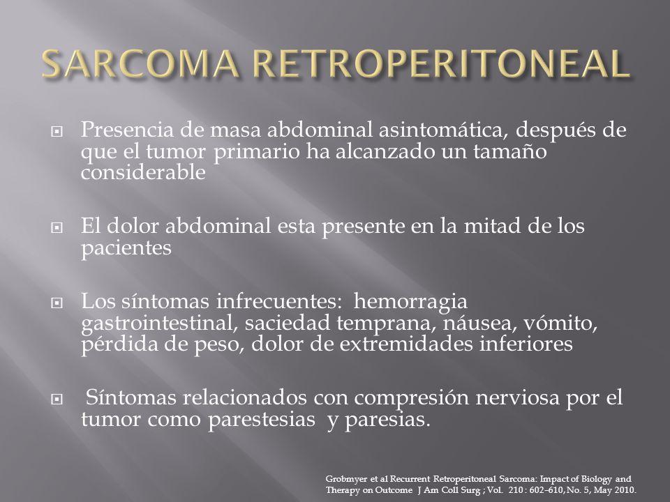 SARCOMA RETROPERITONEAL