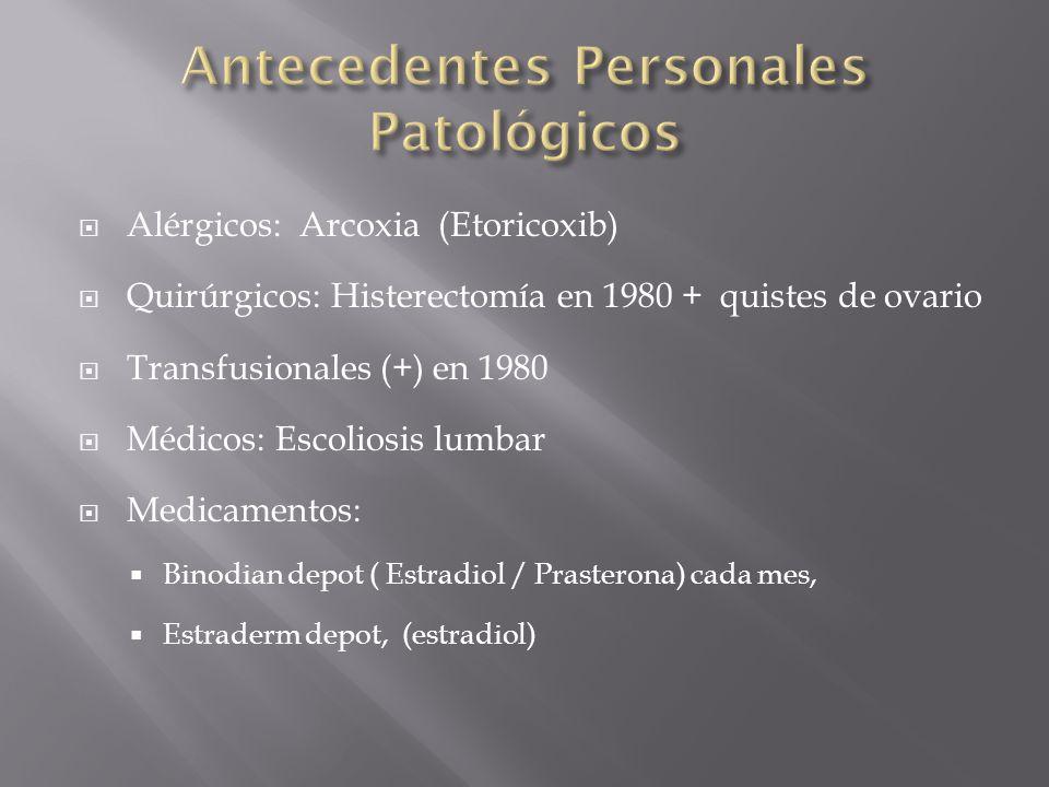 Antecedentes Personales Patológicos