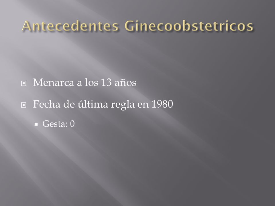 Antecedentes Ginecoobstetricos