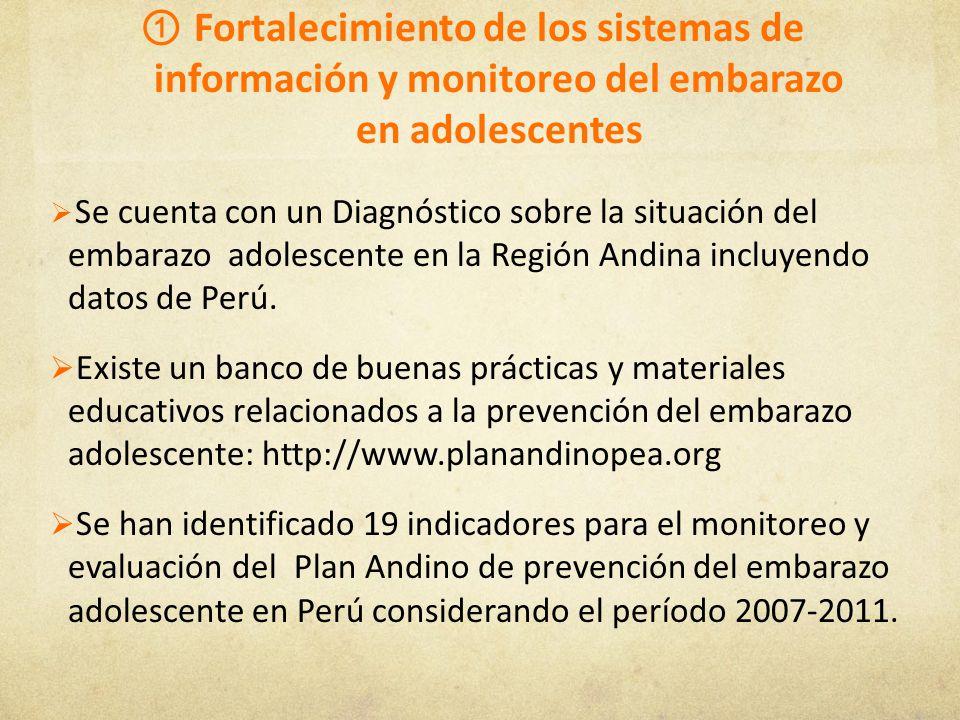 Fortalecimiento de los sistemas de información y monitoreo del embarazo en adolescentes