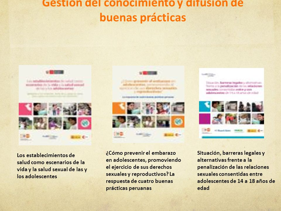 Gestión del conocimiento y difusión de buenas prácticas