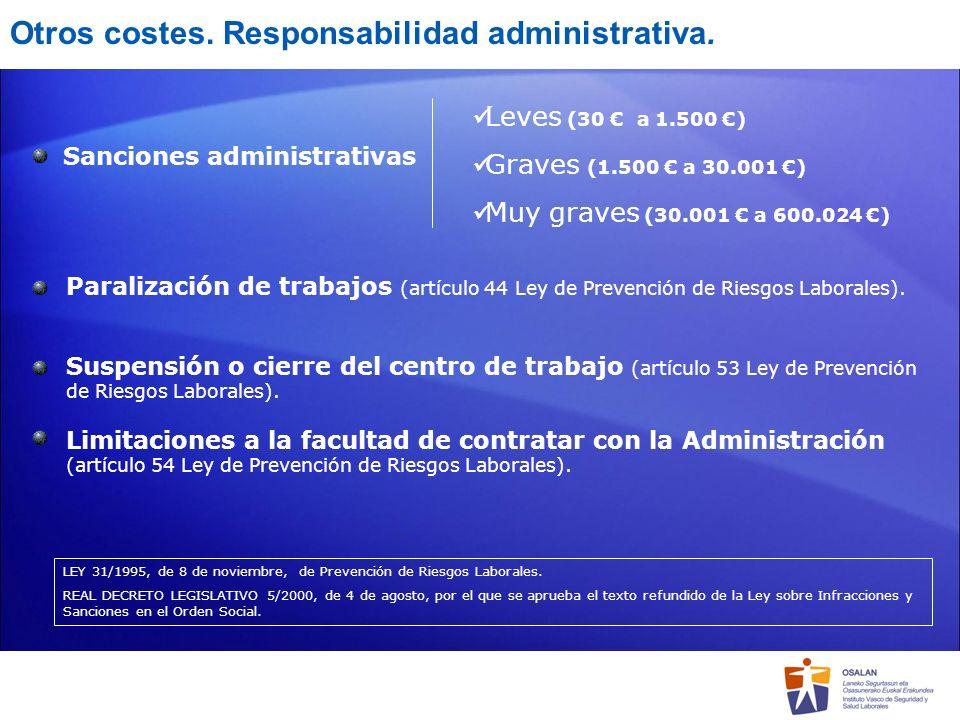 Otros costes. Responsabilidad administrativa.