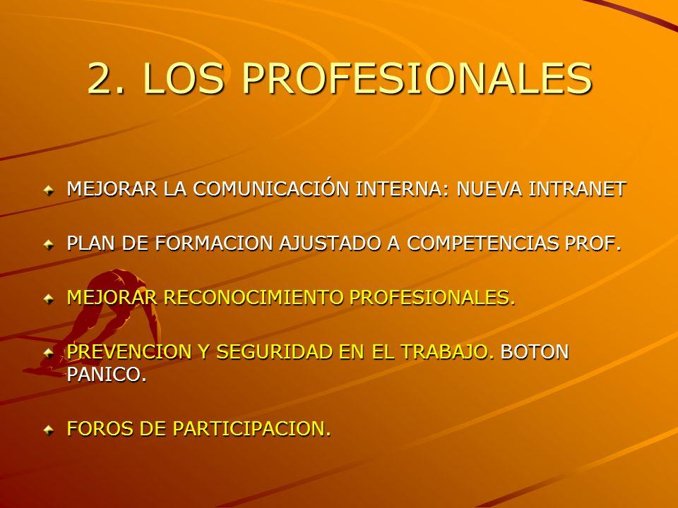 2. LOS PROFESIONALES MEJORAR LA COMUNICACIÓN INTERNA: NUEVA INTRANET