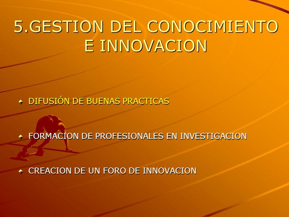 5.GESTION DEL CONOCIMIENTO E INNOVACION