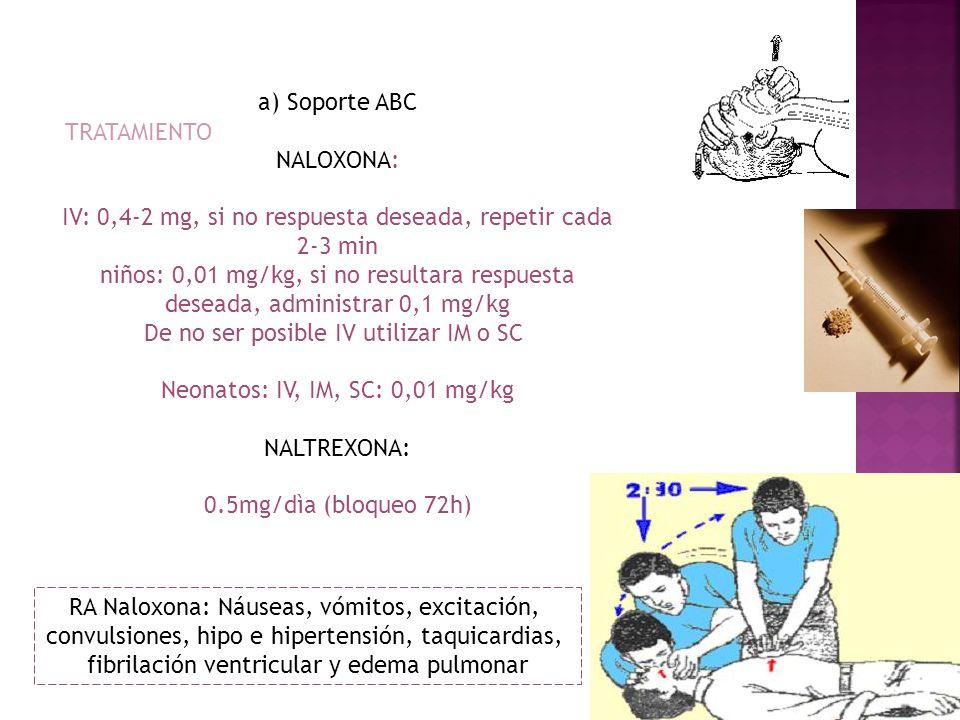 IV: 0,4-2 mg, si no respuesta deseada, repetir cada 2-3 min