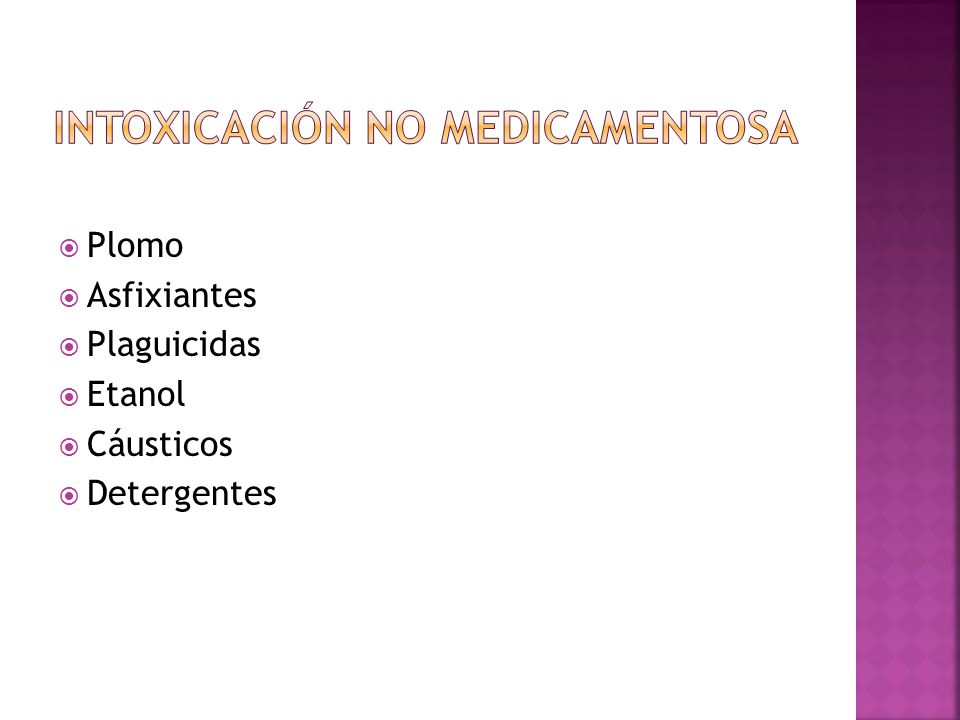 Intoxicación no medicamentosa
