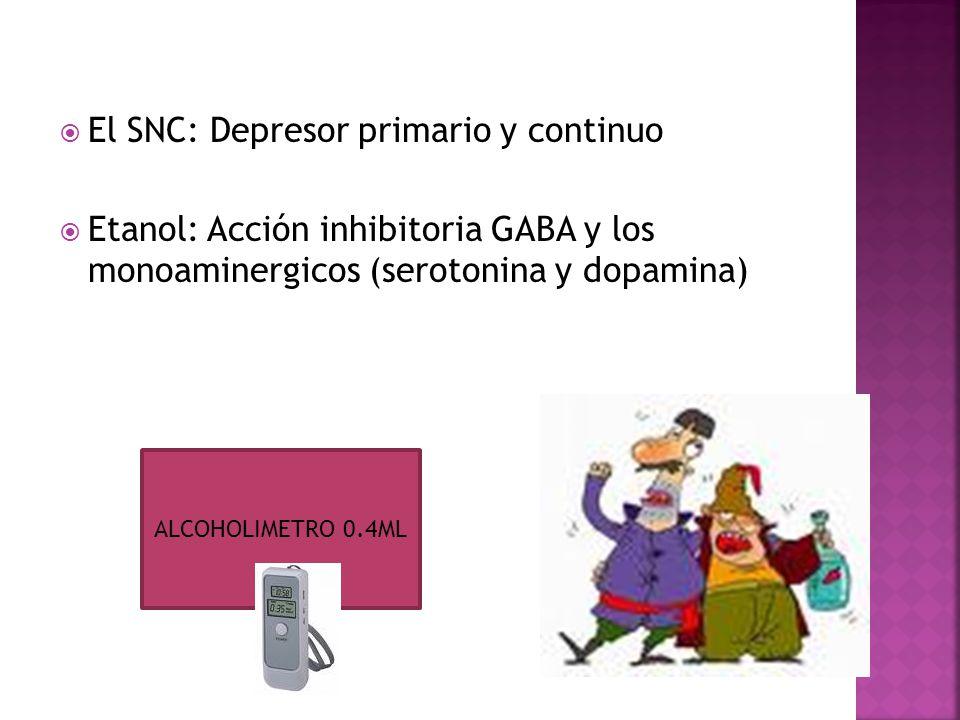 El SNC: Depresor primario y continuo