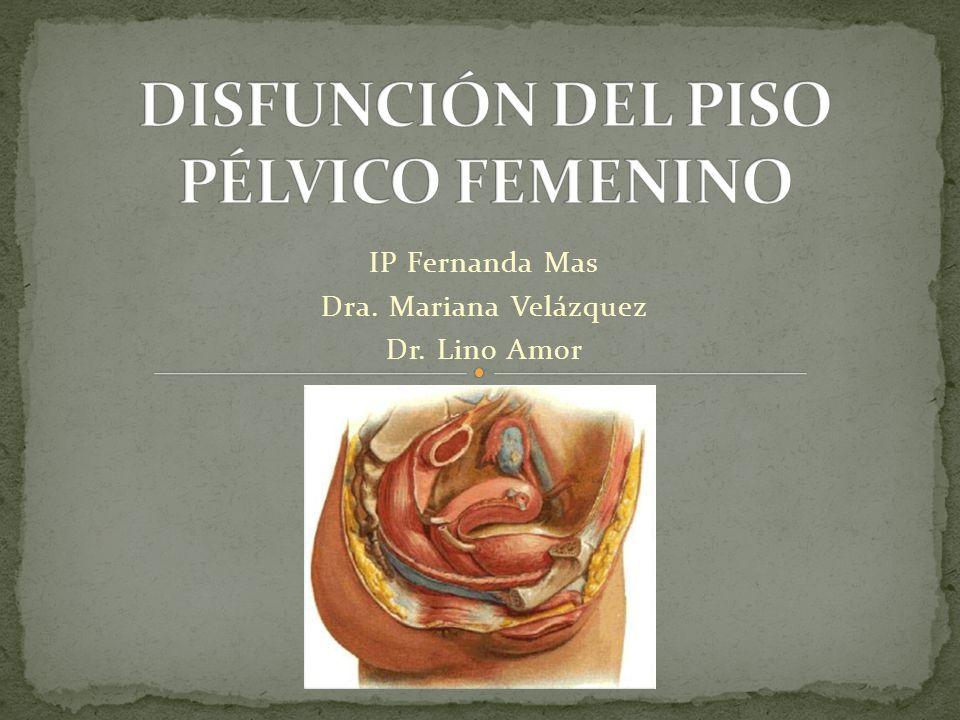 DISFUNCIÓN DEL PISO PÉLVICO FEMENINO