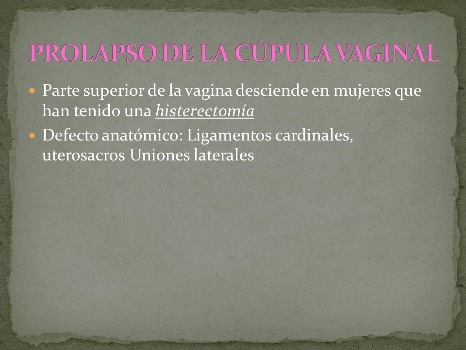 PROLAPSO DE LA CÚPULA VAGINAL