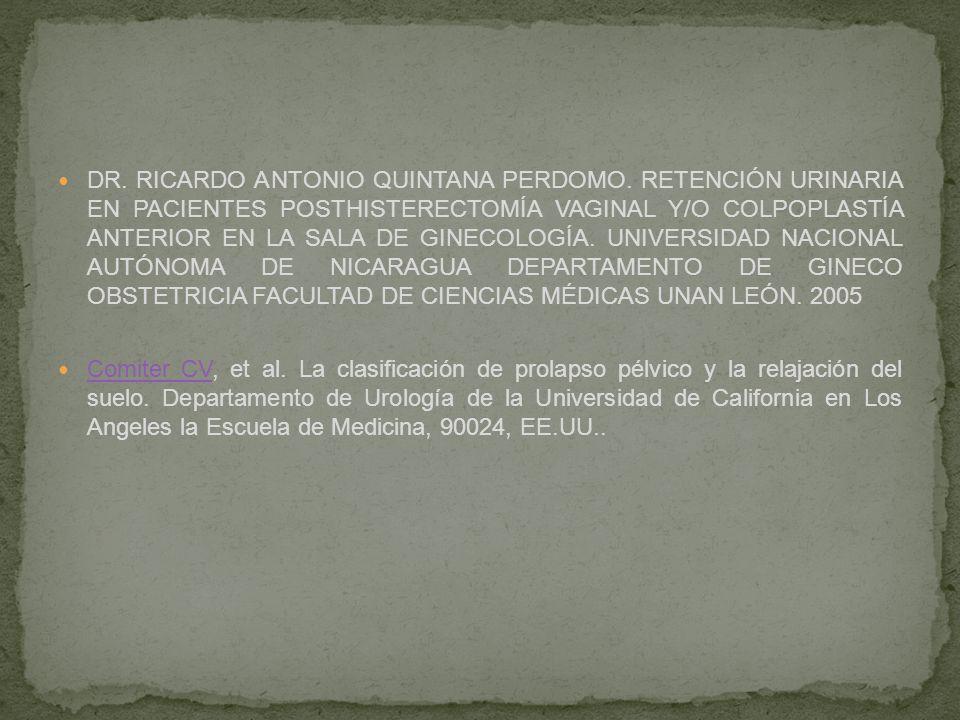 DR. RICARDO ANTONIO QUINTANA PERDOMO