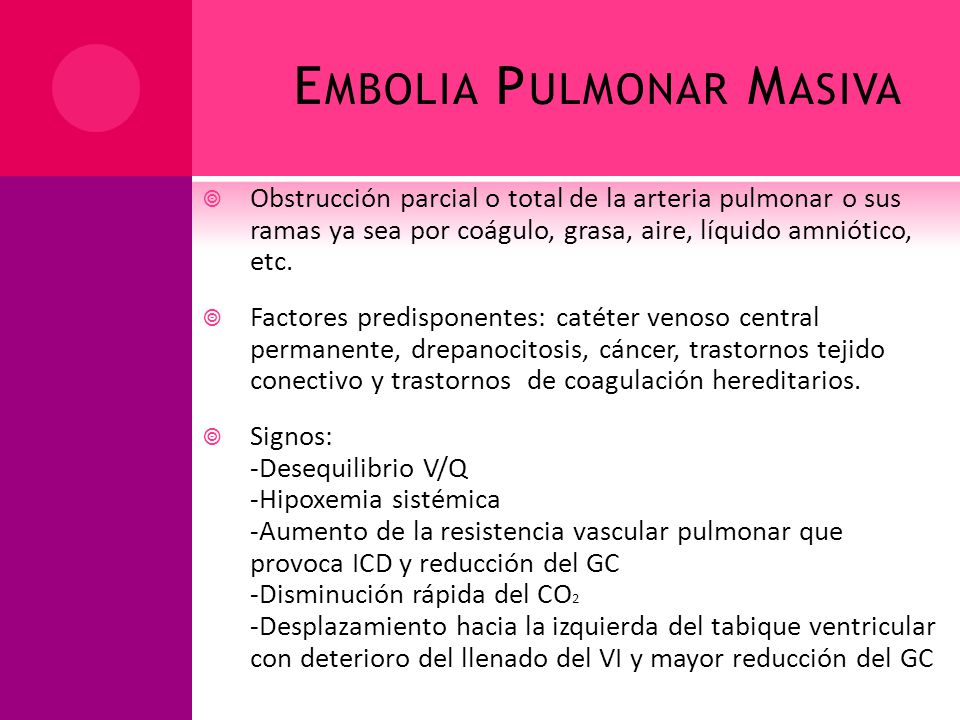 Embolia Pulmonar Masiva