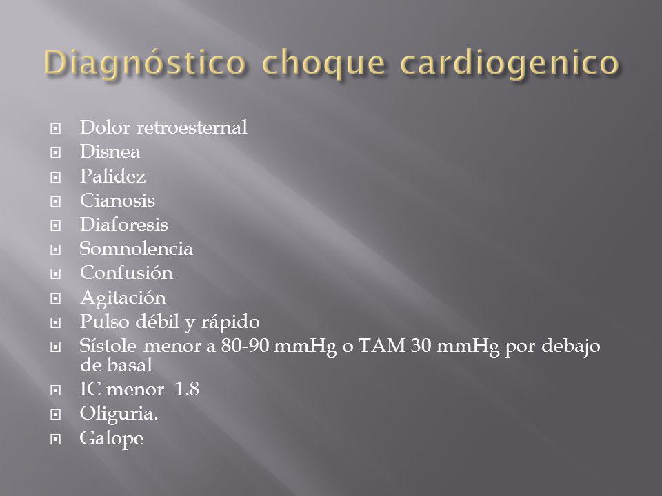 Diagnóstico choque cardiogenico