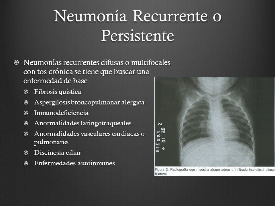 Neumonía Recurrente o Persistente