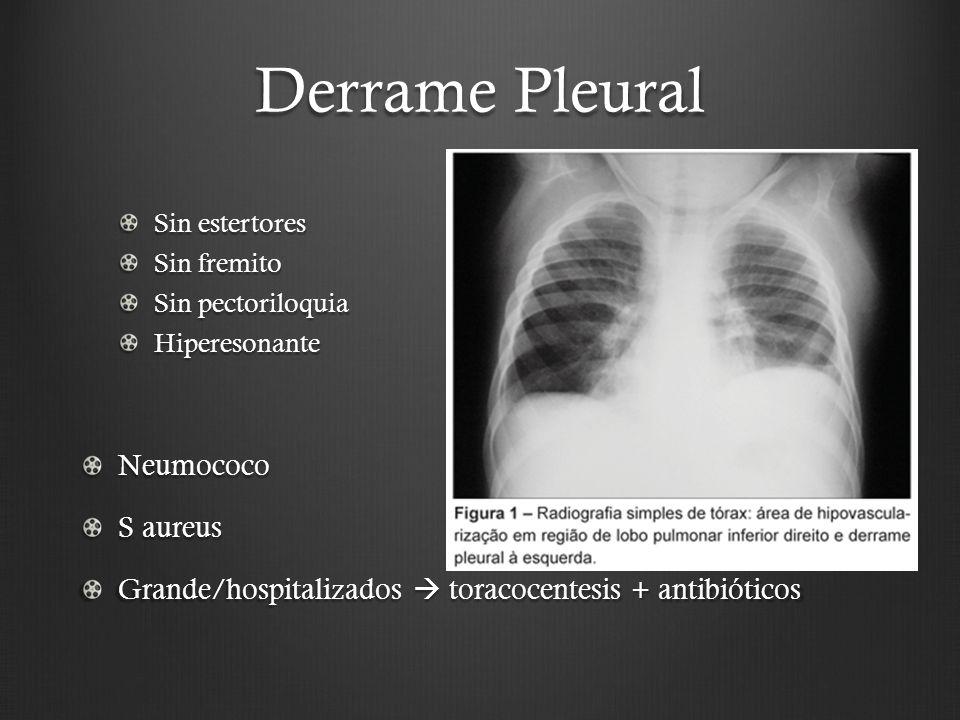 Derrame Pleural Neumococo S aureus