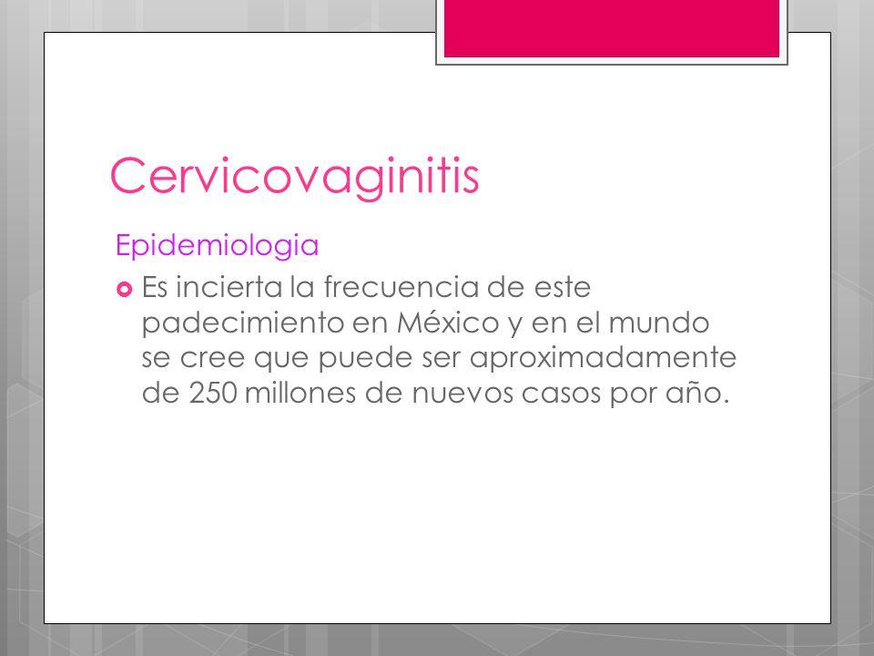 Cervicovaginitis Epidemiologia