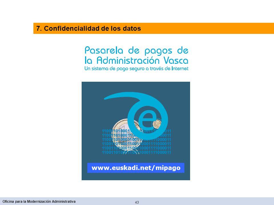 7. Confidencialidad de los datos