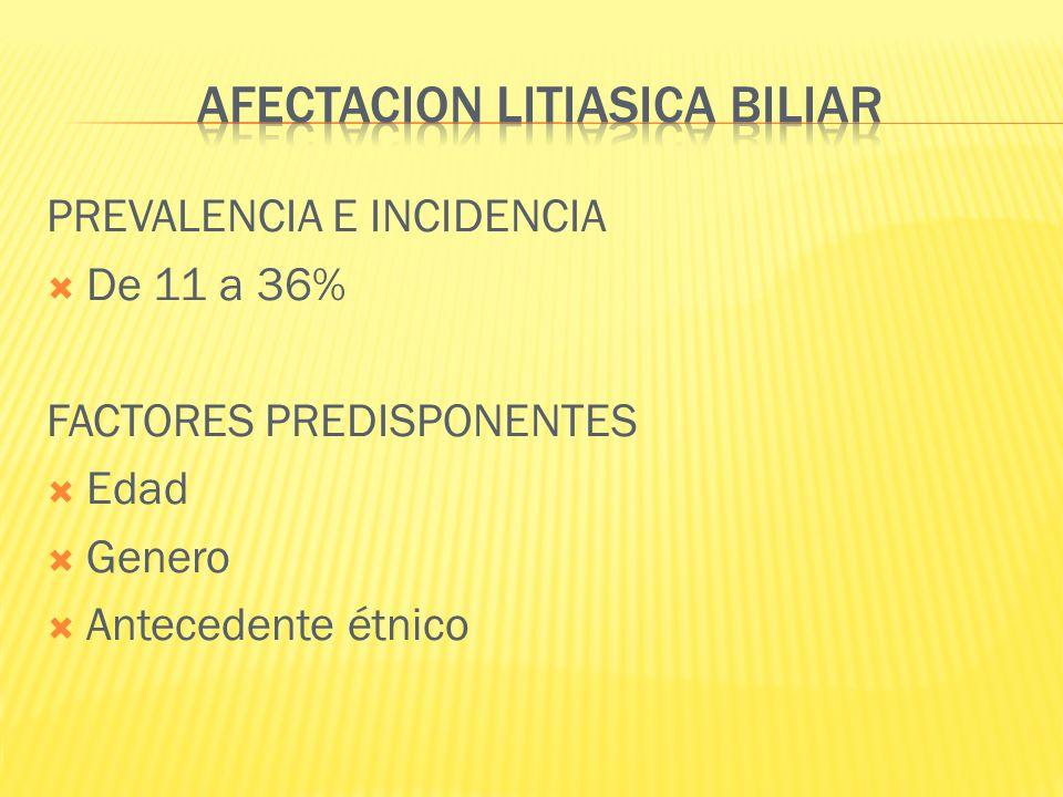 AFECTACION LITIASICA BILIAR