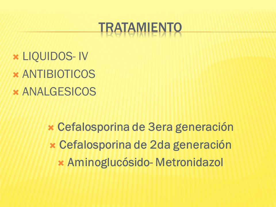 TRATAMIENTO LIQUIDOS- IV ANTIBIOTICOS ANALGESICOS
