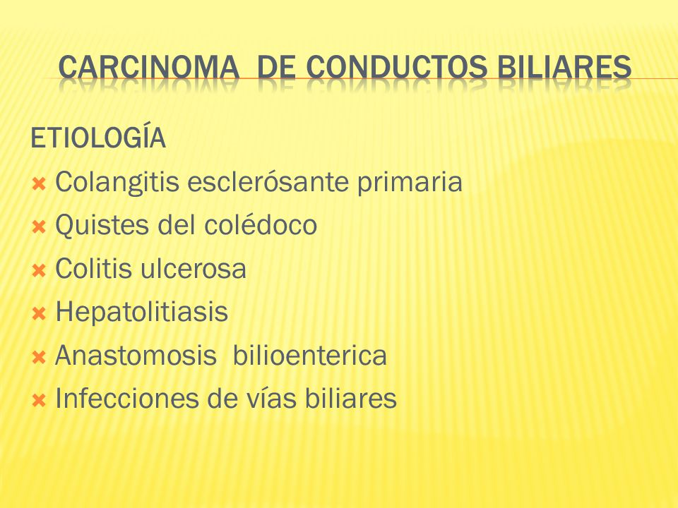 CARCINOMA DE CONDUCTOS BILIARES