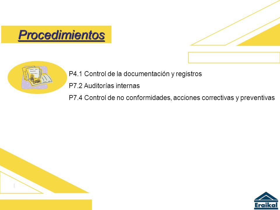 Procedimientos P4.1 Control de la documentación y registros