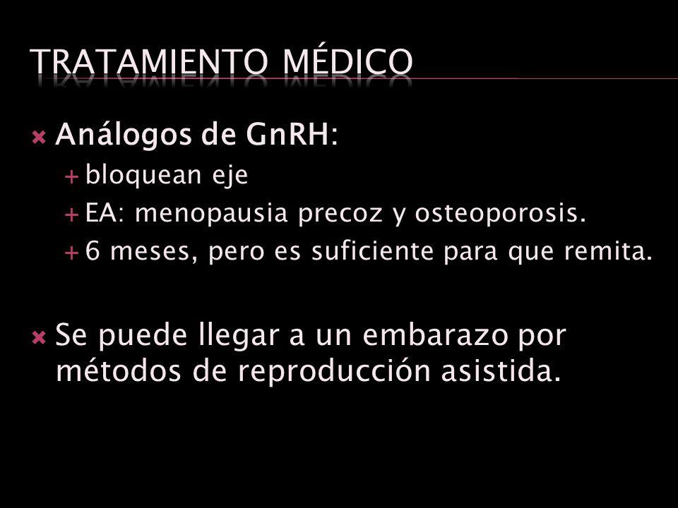 Tratamiento médico Análogos de GnRH: