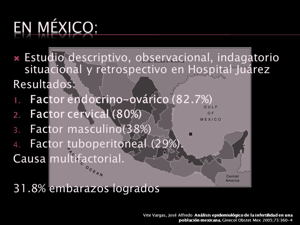 En México: Estudio descriptivo, observacional, indagatorio situacional y retrospectivo en Hospital Juárez.