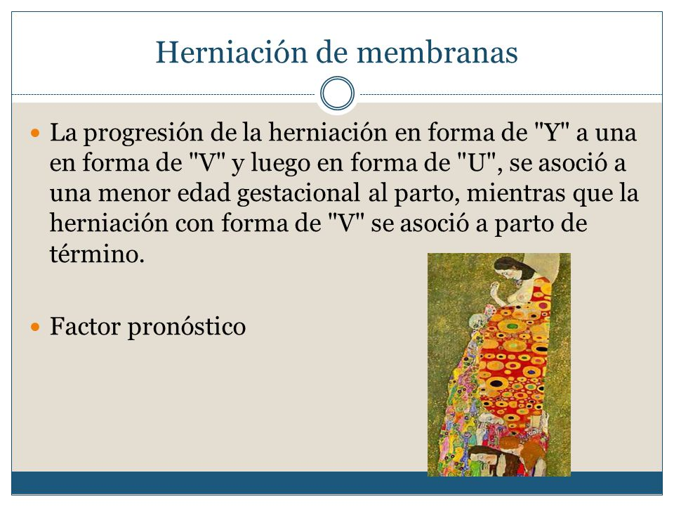 Herniación de membranas