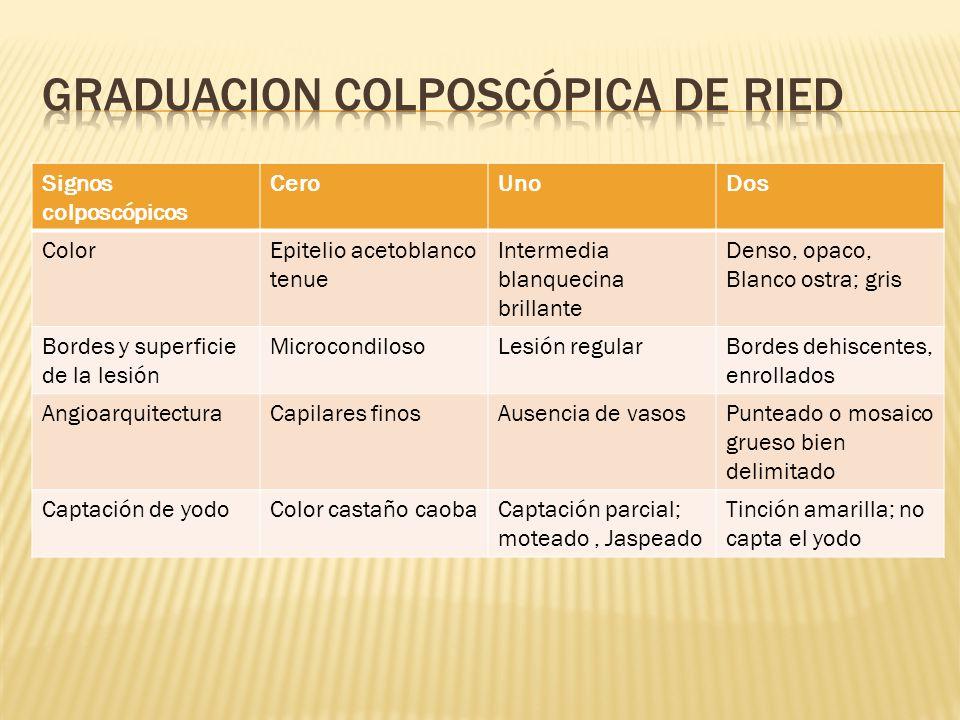 Graduacion Colposcópica de Ried