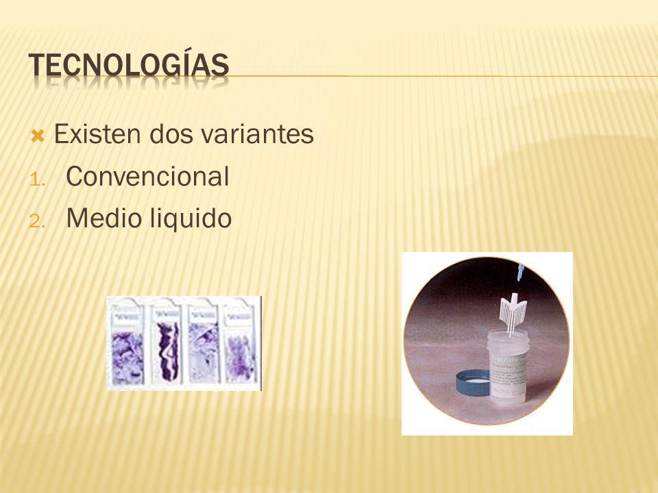 Tecnologías Existen dos variantes Convencional Medio liquido