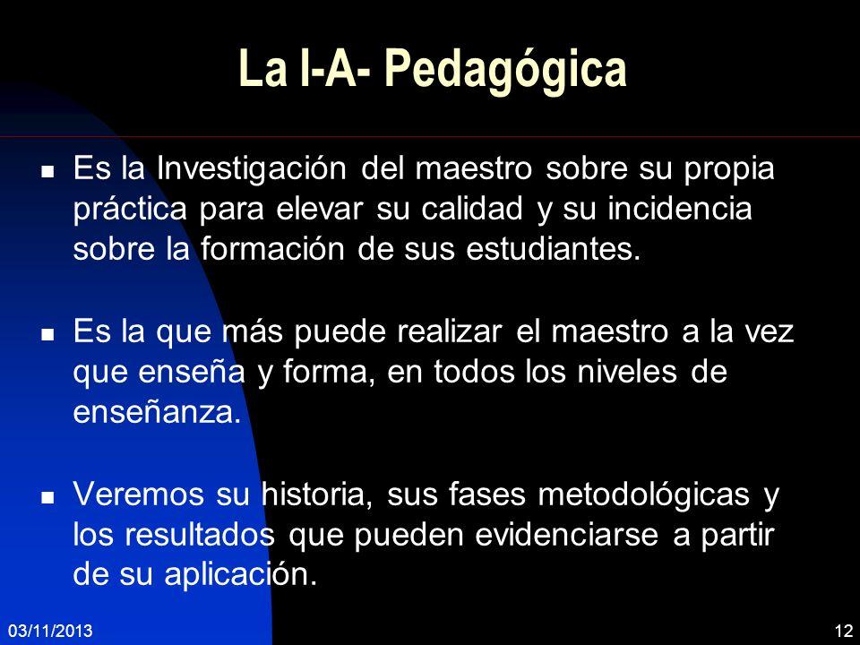 La I-A- Pedagógica