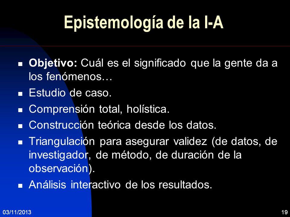 Epistemología de la I-A