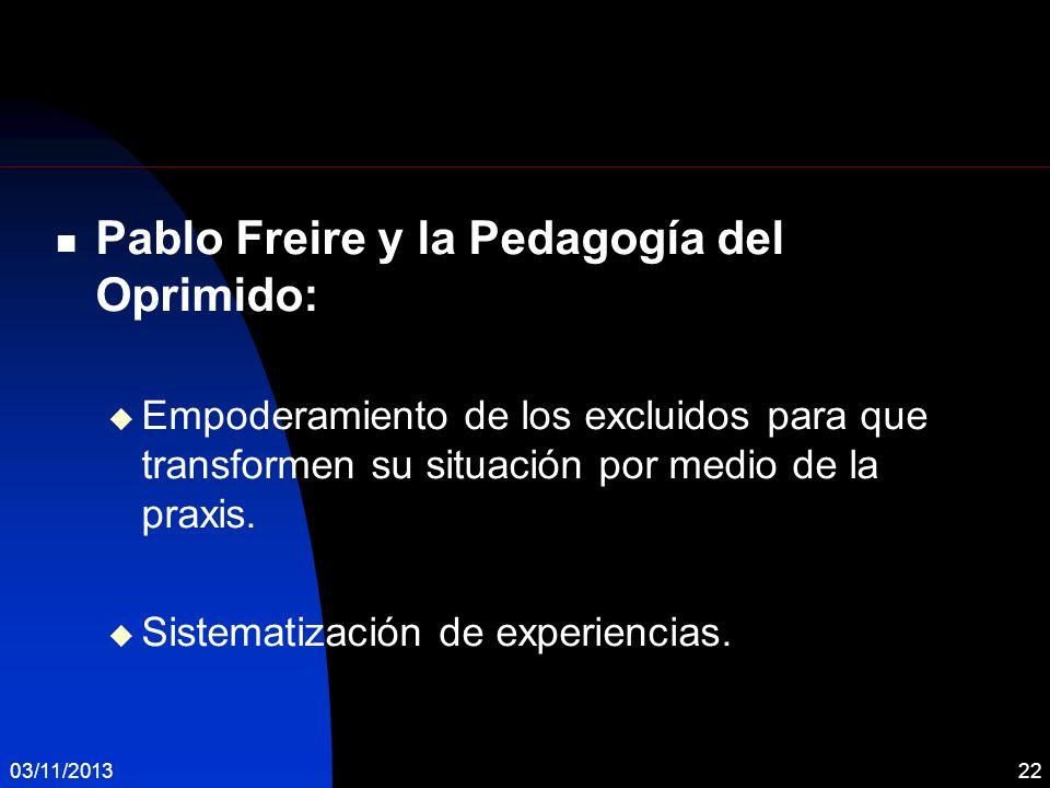 Pablo Freire y la Pedagogía del Oprimido: