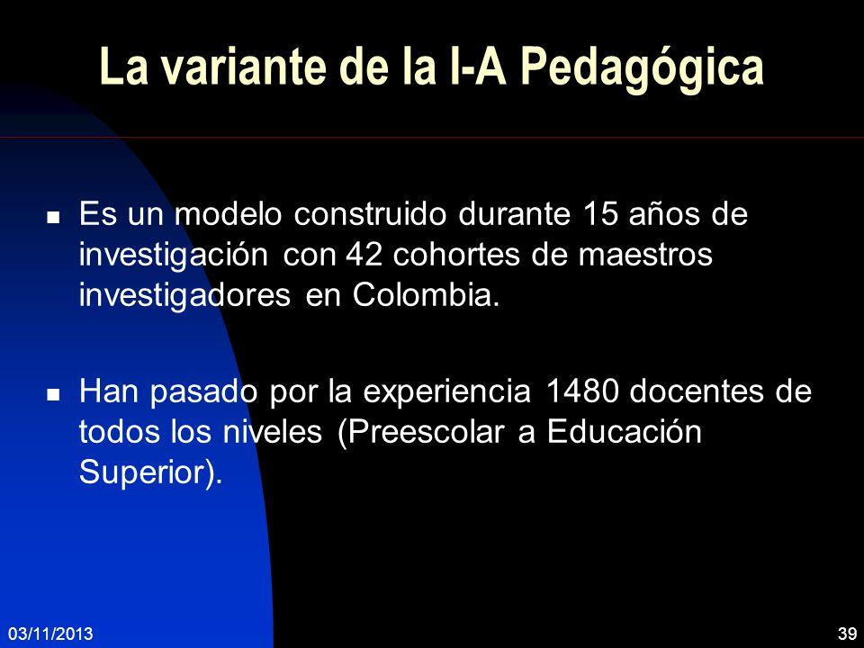 La variante de la I-A Pedagógica