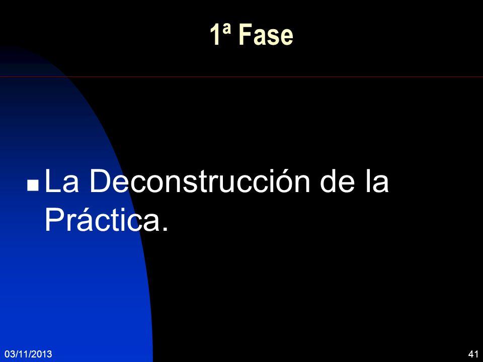 La Deconstrucción de la Práctica.