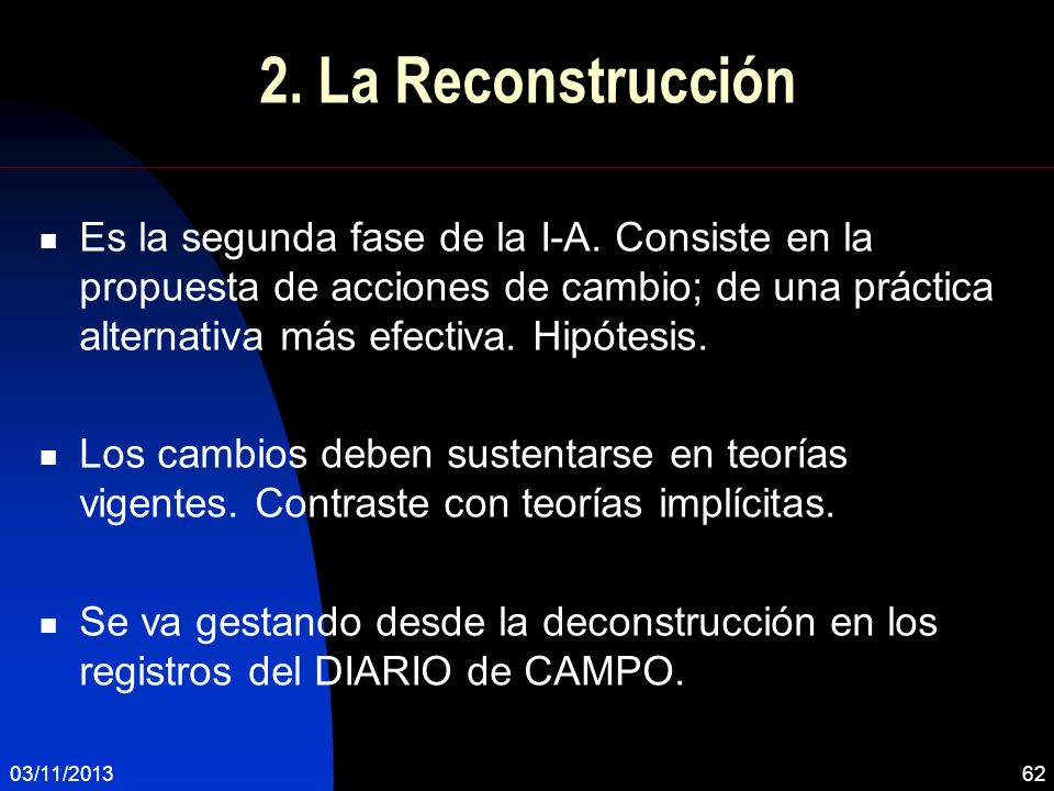 2. La Reconstrucción