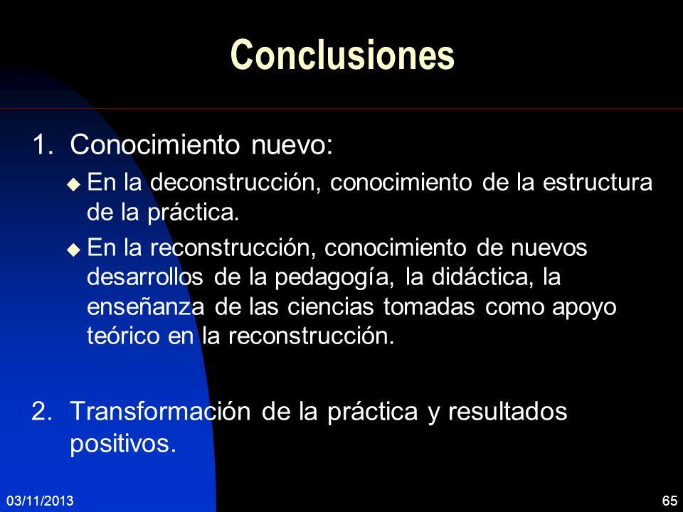 Conclusiones Conocimiento nuevo: