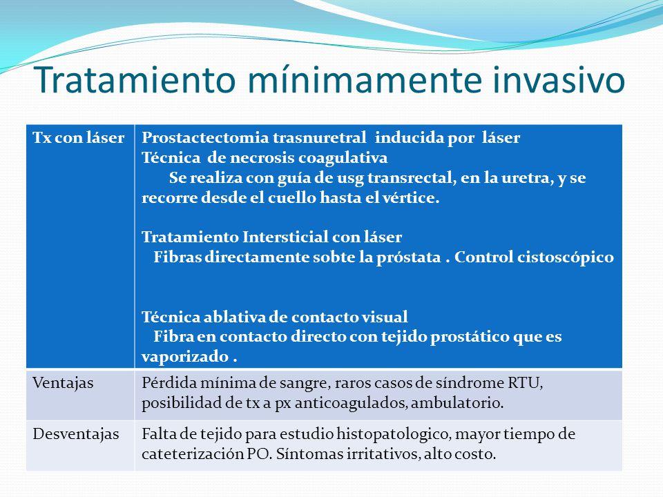 Tratamiento mínimamente invasivo