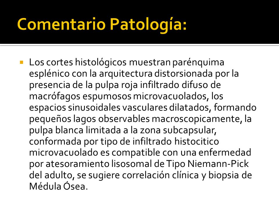 Comentario Patología:
