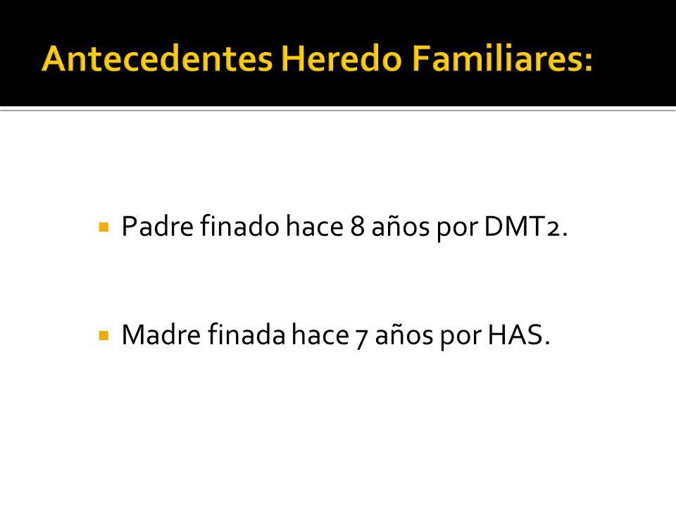 Antecedentes Heredo Familiares: